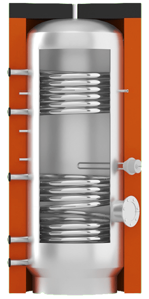 Горячего водоснабжения ВТІ-11 с двумя спиральными теплообменниками